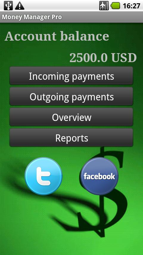 MoneyManager Pro - screenshot