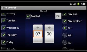 Screenshot of Alarm Clock Harmony LITE