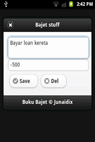 Buku Bajet- screenshot