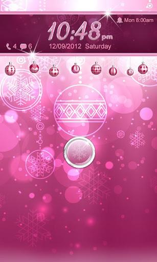 Pink Christmas Go Locker Theme