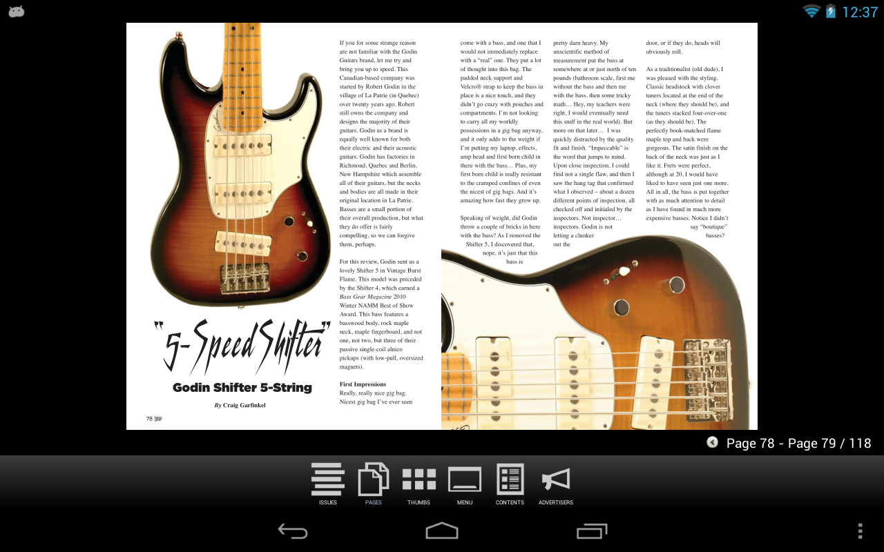 Bass Gear Magazine- screenshot