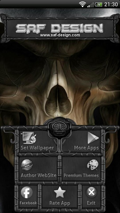 Next Launcher Skull Theme- screenshot