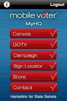 Screenshot of MobileVoter