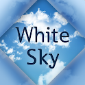 White Sky Atom theme icon