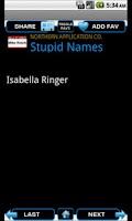 Screenshot of Stupid Names