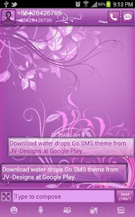 Pastel Purple Go SMS Pro Theme - screenshot thumbnail