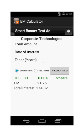 EMI Calculator - Loan- screenshot