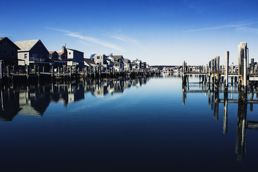 The Marina by Erika Lorde - Landscapes Waterscapes ( calm, water, clearblue, sailboats, cold, longpoint, upperclass, marina, spring )