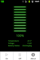 Screenshot of Batteria - Battery Indicator