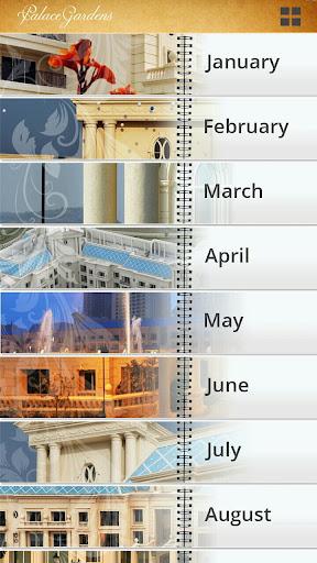 Palace Gardens Calendar