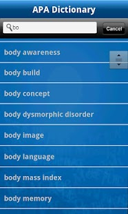 APA Concise Dictionary - screenshot thumbnail