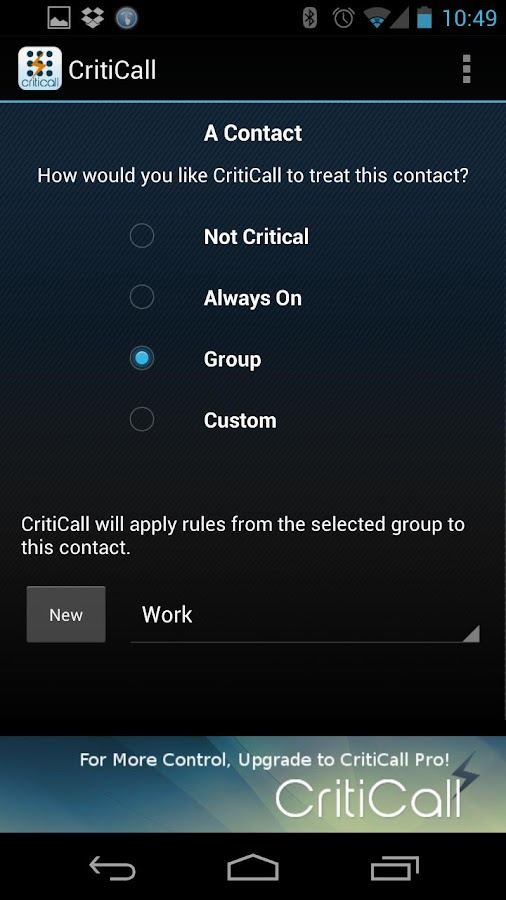 CritiCall Free - screenshot