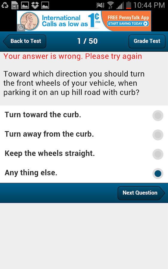 South Dakota Driving Test- screenshot