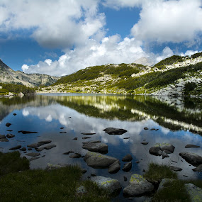 Pirin by Ева Йорданова - Landscapes Mountains & Hills ( clouds, reflection, mountains, lake,  )