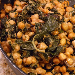 Roasted Garbanzo Beans & Garlic w/ Swiss Chard.