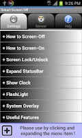 Screenshot of Smart Screen Off (Flip Cover)
