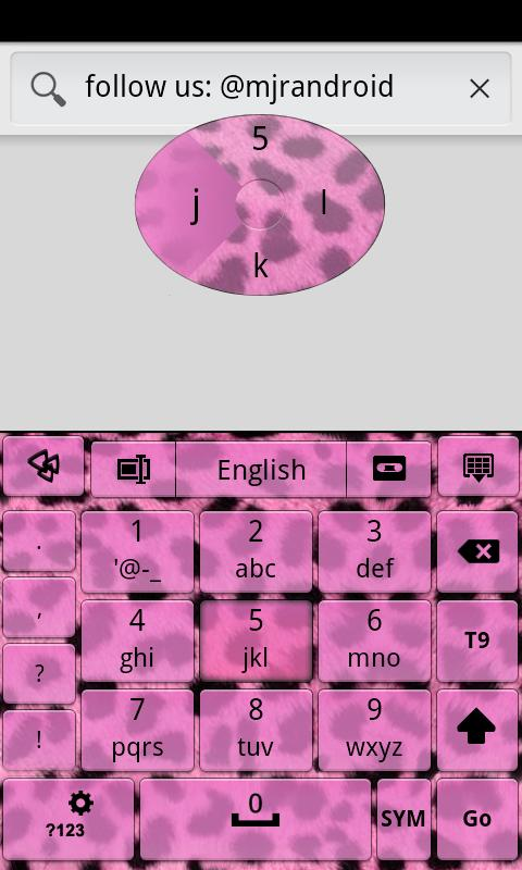 Pink Cheetah GO Keyboard Theme - screenshot
