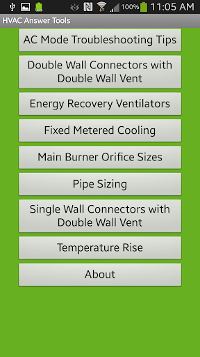 HVAC Answer Tools