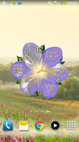 Screenshot of Flower Clock Live Wallpaper
