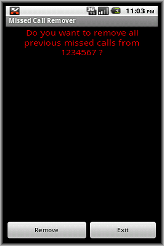 Missed Call Remover- screenshot