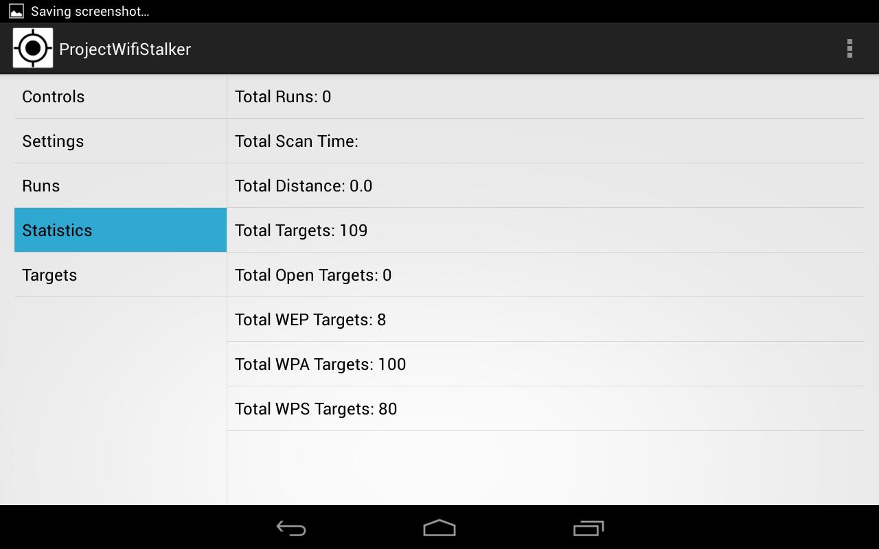 Wifi Stalker (Tablet) - screenshot