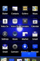 Blue Droid Dxtop Theme