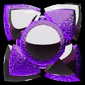 Next Launcher Theme purple liz