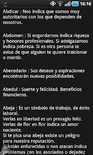 Diccionario de Sueños - screenshot thumbnail