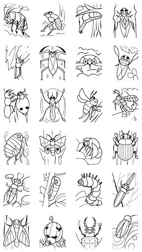 子供のぬりえ 昆虫