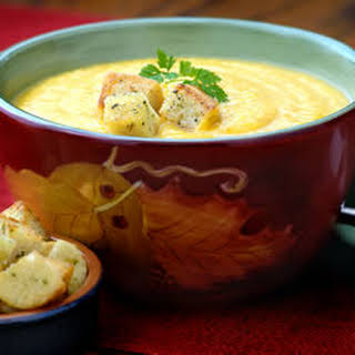 Hidden Valley® Harvest Butternut Squash Soup with Ranch Croutons.