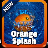 Orange Splash GO Keyboard