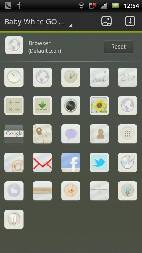 Baby White GO LauncherEX Theme - screenshot