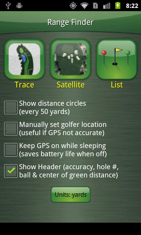 GolfCard GPS - screenshot