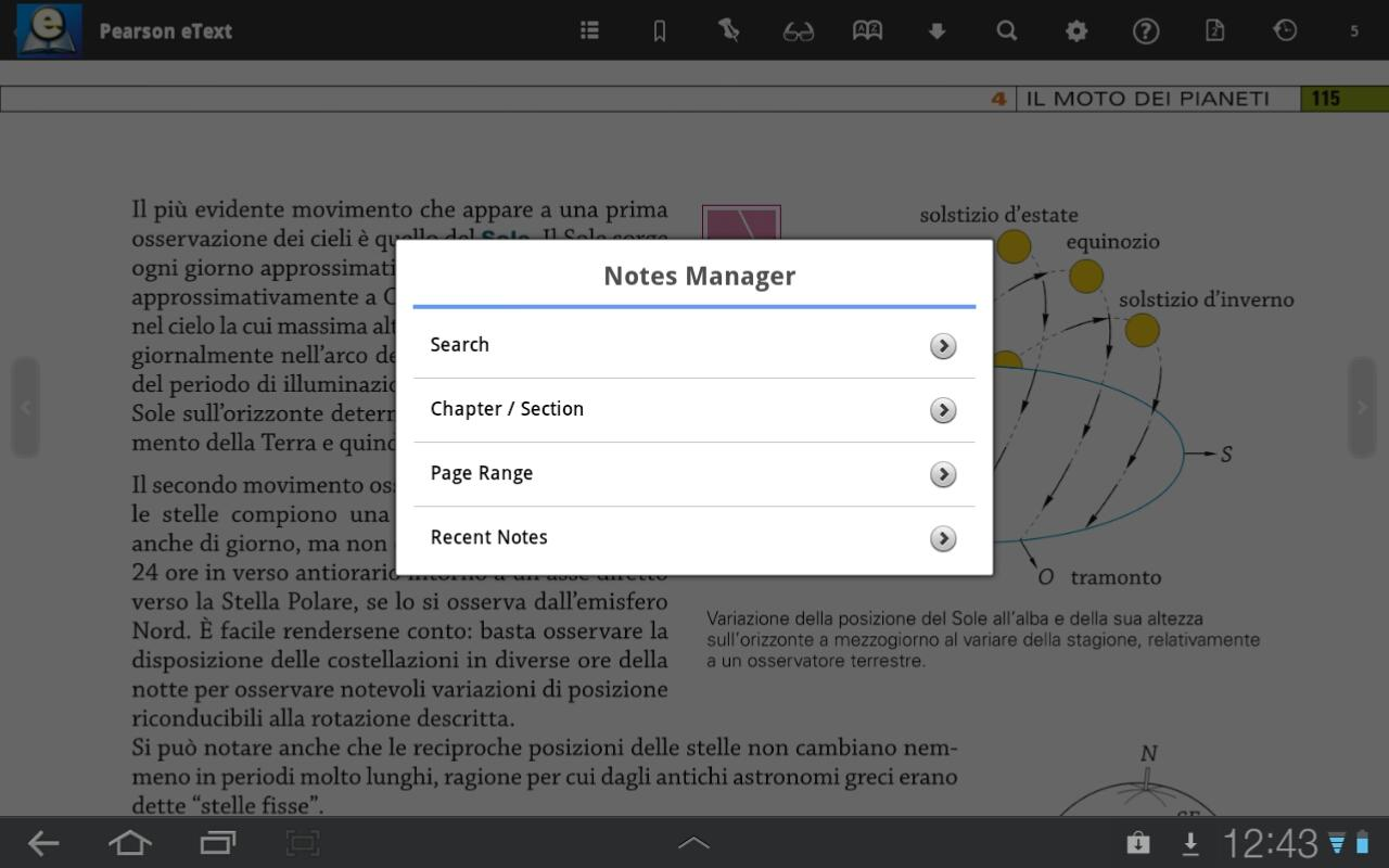 Pearson eText for Android - screenshot