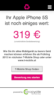 T-Mobile Handy Ankauf- screenshot thumbnail