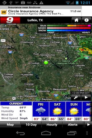 KTRE 9 StormTracker Weather - screenshot