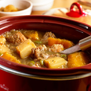 Slow Cooker Fall Harvest Pork Stew.