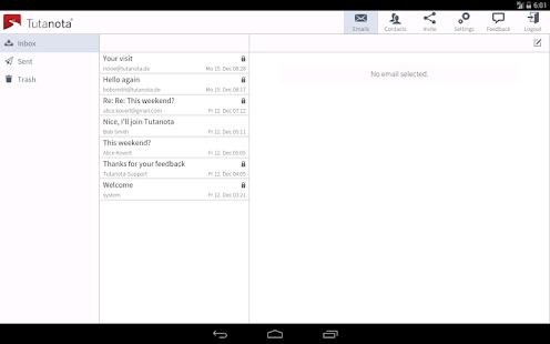 Tutanota: simply secure emails Screenshot 6