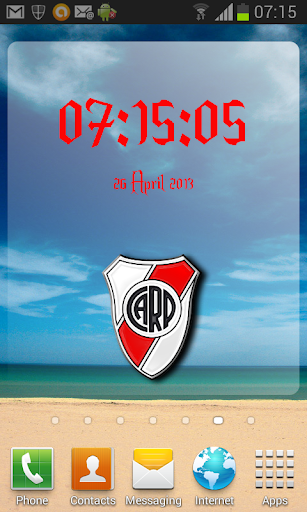 Digital Clock River Plate