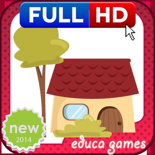 教育の着色ゲーム:住宅 LOGO-HotApp4Game