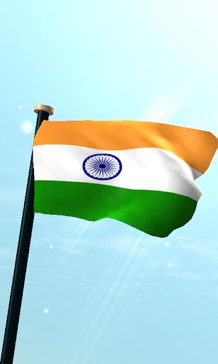 印度旗3D免費動態桌布