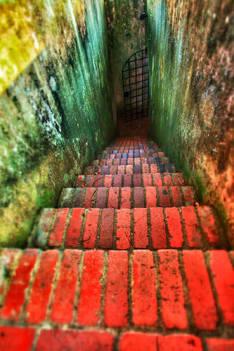 Stairway to Fort Canning bunker. by Shahrul A Hamid - Buildings & Architecture Decaying & Abandoned (  )