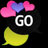 GO SMS - Loving Hearts 5