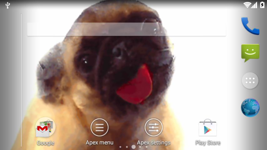 Pug lick screen cleaner