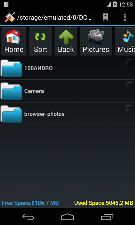SD Card Manager- screenshot