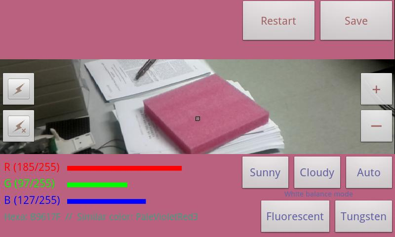 Color picker (Real time)- screenshot