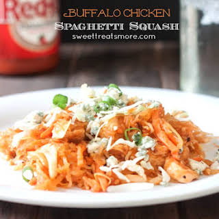 Buffalo Chicken Spaghetti Squash.