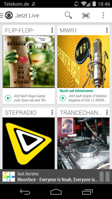 laut.fm Radio- screenshot