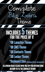 Complete Blue Zebra Theme screenshot 0
