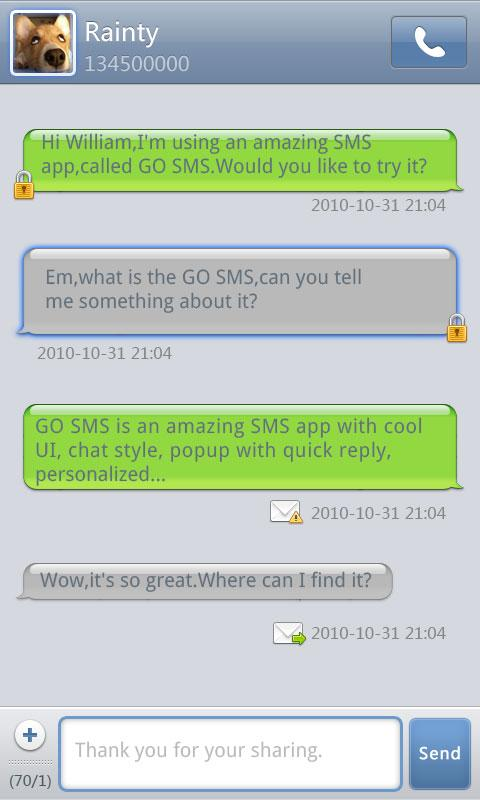 GO SMS Pro Grey Theme - screenshot